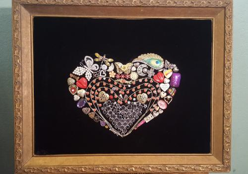 A Work of Heart w/Antique Frame